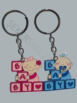 Baby Yazılı Bebek Anahtarlık
