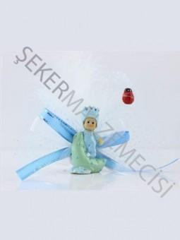 Aydedeli Süslenmiş Bebek Şekeri Mavi - 50 Adet