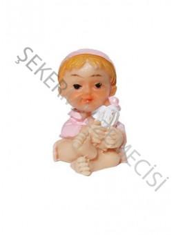 Şapkalı Biberonlu Bebek Biblo