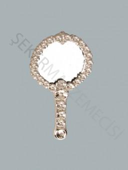 Çiçekli Metal Ayna Gümüş