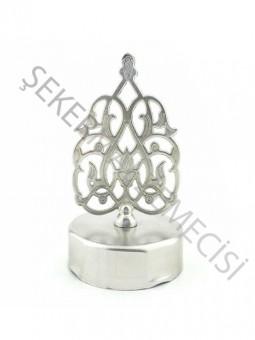 Bal Kavanozu Kubbe Metal Kapak Gümüş