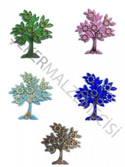 Ağaç Çiçekli Yapraklı Plastik