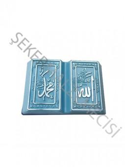 Ayet Kitap Kuran Allah - Muhammed Yaldızlı Model Mavi