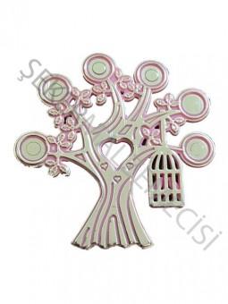 Ağaç Kuş Kafesli Plastik Pembe