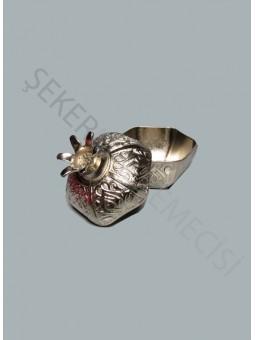 Nar Lokumluk Metal Gümüş