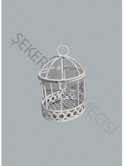 Kuş Kafesi Metal Beyaz