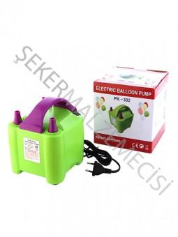 Balon Şişirme Makinası Çift Başlı