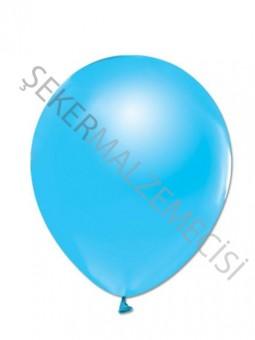 Açık Mavi Metalik Baskısız Balon