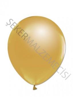 Altın Metalik Baskısız Balon