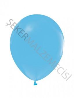 Açık Mavi Baskısız Balon