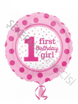 1 First Birthay Girl Anagram Folyo Balon