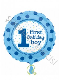 1 First Birthay Boy Anagram Folyo Balon