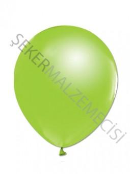 Açık Yeşil Metalik Baskısız Balon