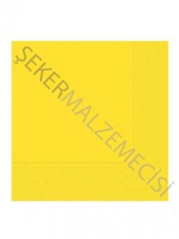 Desenli Düz Peçete Sarı