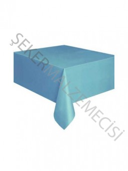 Düz Desenli Masa Örtüsü Mavi