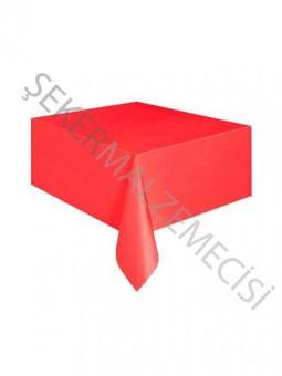 Düz Desenli Masa Örtüsü Kırmızı