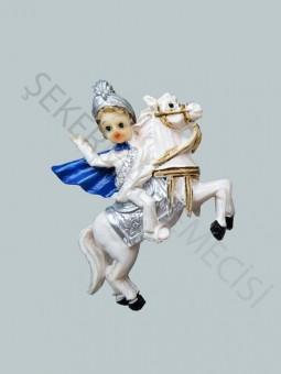 At Üstünde Sünnet Çocuğu Biblo