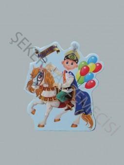 Atlı Balonlu Sünnet Çocuğu Sticker