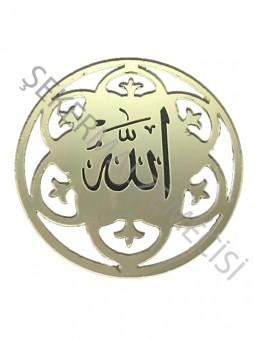 Ayet Allah Lafzı Lazer Kesim Pleksi Altın 10 adet