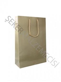 Çanta Karton Altın Küçük Boy