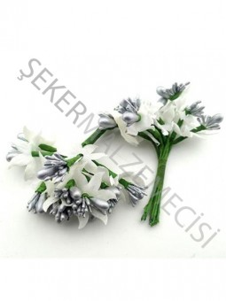 Çiçek Cipsolu ve Tomurcuklu Gümüş