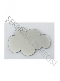 Pleksi Figür 1mm Yapışkanlı Bulut Gümüş
