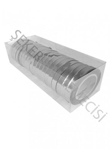 Rafya Parlak Metalize 8 mm Gümüş