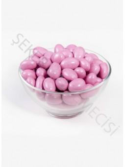 Çikolatalı Pembe Badem Draje - 500 Gr