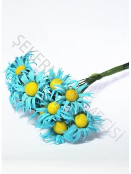 Papatya Çiçek Mavi